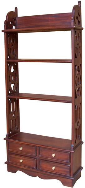 Solid Mahogany 4 Drawer Bookshelf Wall Rack Rck003