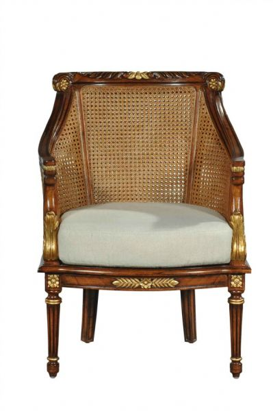 Marvelous ... Double Rattan Arm Chair