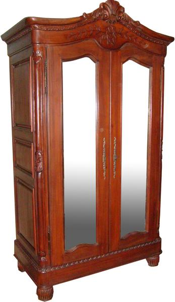 Elegance Mirrored French Armoire ARM005