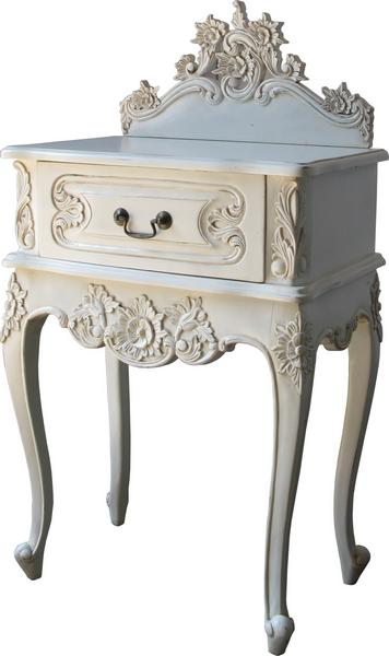 Antique White French Rococo Dressing Table And Mirror DSTP - Rococo side table