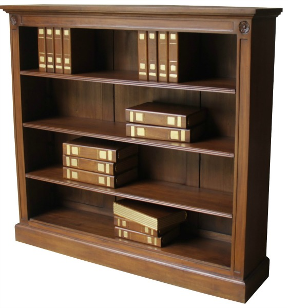 Low Wide 3 Shelf Bookcase BCS030