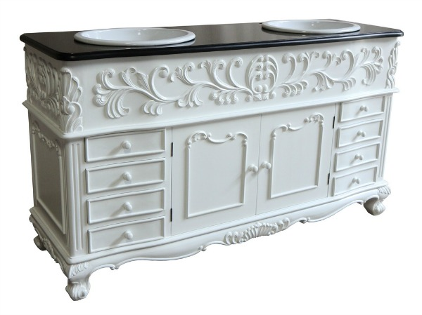 Double Bathroom Vanity Unit VU841(1)