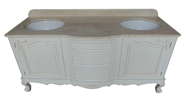 Double Bowfronted Bathroom Vanity Unit VU844(2)