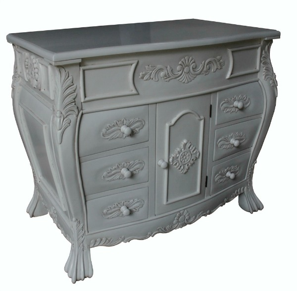 Single Bathroom French Vanity Unit with Wooden Top VU899(1)