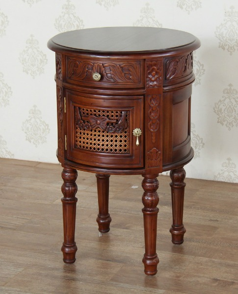 French Round Bedside BS025