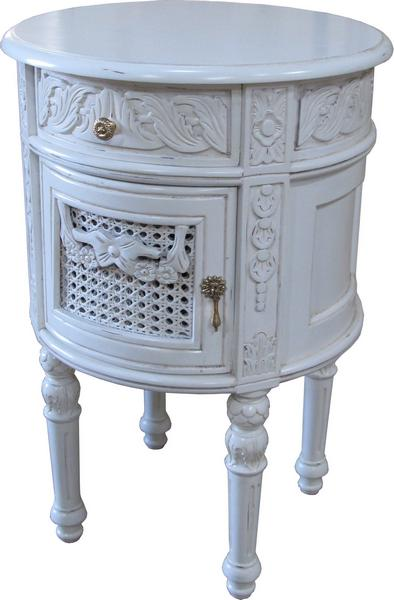 French Round Bedside BS025P