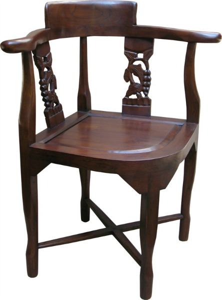 Solid Mahogany Corner Chair