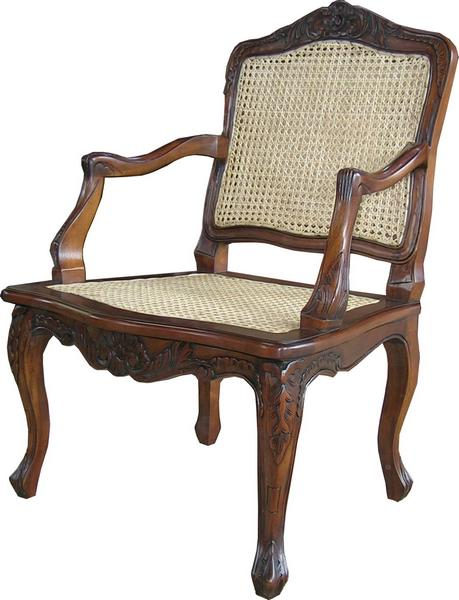 French Arm Chair with Rattan CHR003