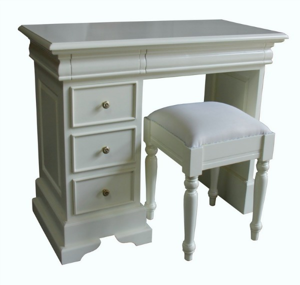Single Pedestal Dressing Table with Stool DSK018P