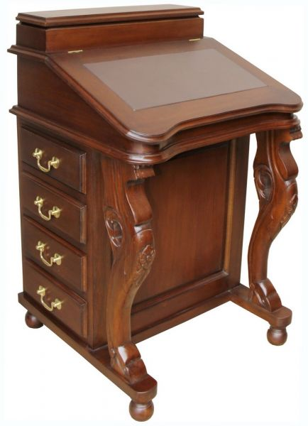 Mahogany Davenport Desk with brown leather top DSK009B