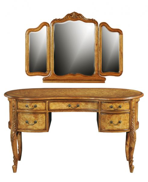 Hampton French Kidney Dressing Table with Mirror DW018WM
