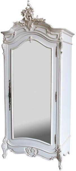 French Rococo Mirrored Armoire ARM021P
