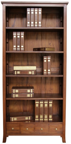 Clearance Solid Mahogany Orchard Bookcase Bcs018