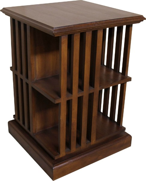 Rotating Bookshelves: Rotating Mahogany Bookcase