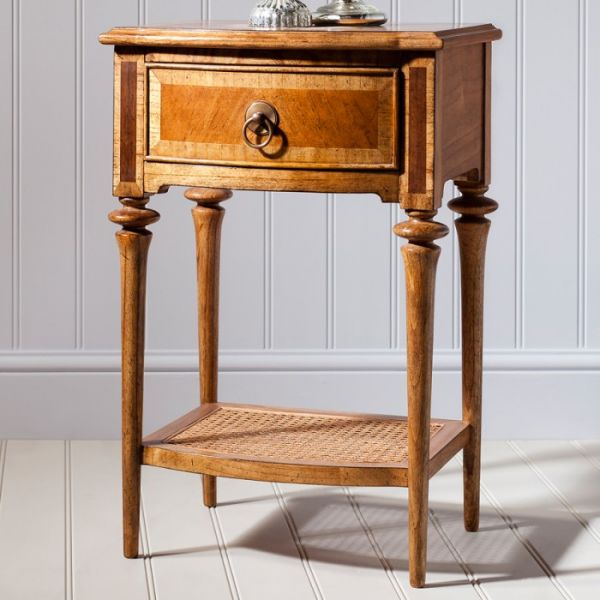 Spire 1 Drawer Walnut Bedside Cabinet