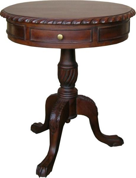 CLEARANCE 2 Drawer Regency Drum Table T016