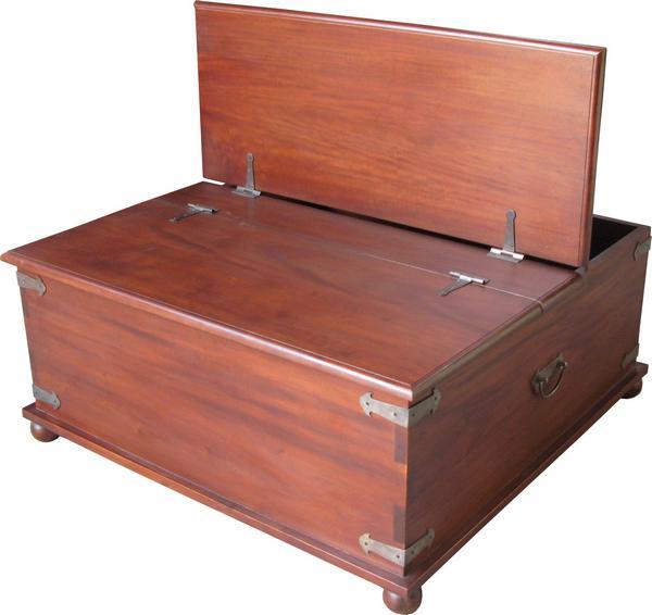 Vintage Mahogany Trunk Table