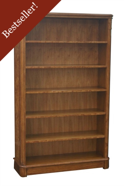 Hampton Tall Wide Walnut Bookcase