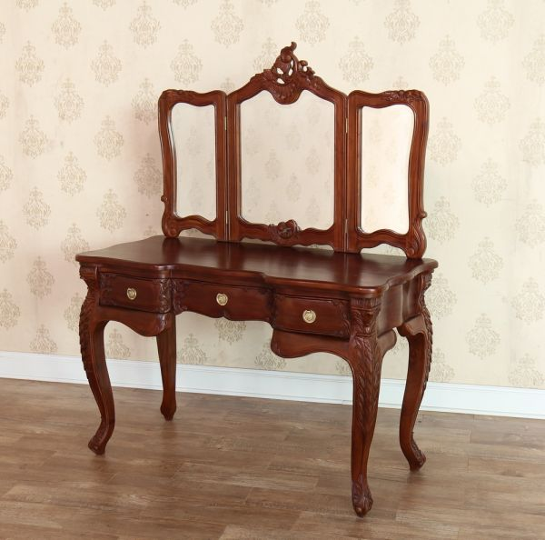 French Rococo Dressing Table and Mirror DST005