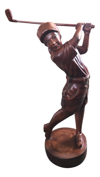 Large Female Golfer Statue / Ornament