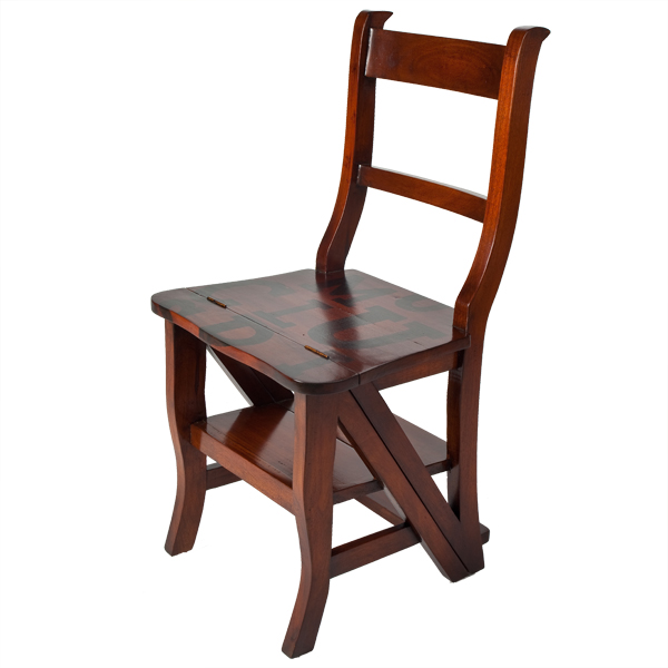 Americana Folding Library Step Chair Ahm A175 Lock Stock