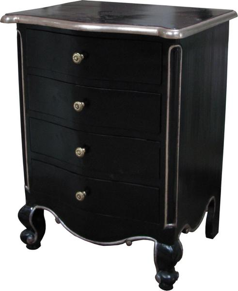 French Louis Bedside Table 4 Drawer Bs008p