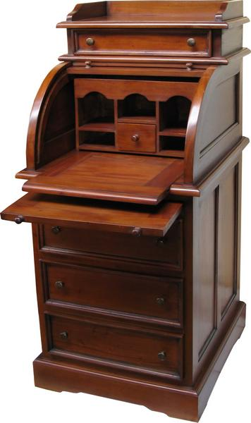 roll top mahogany bureau dsk010 lock stock barrel. Black Bedroom Furniture Sets. Home Design Ideas