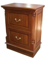 DEEP 2 Drawer Mahogany Filing Cabinet CHT023(D)