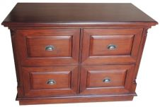STANDARD 4 drawer Mahogany Filing Cabinet CHT066C (To Order Only)