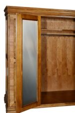 Hampton 4 Door Walnut Wardrobe