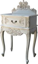 French Rococo Bedside with Pediment BS024P