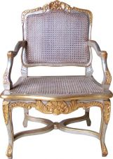 French Arm Chair with Rattan CHR003P