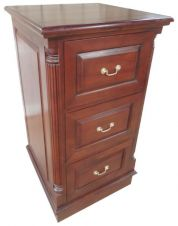 DEEP 3 Drawer Mahogany Filing Cabinet CHT024(D) To Order Only