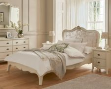 Classic Collection Bed with upholstered headboard