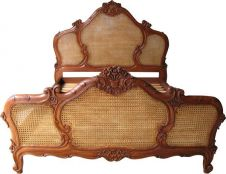 French Arch Rattan Bed B006