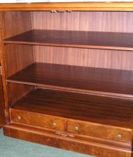 Walnut Multi-Purpose Cupboard / Chest with 2 adjustable shelves