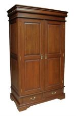 French Sleigh 2 drawer Mahogany Wardrobe ARM008