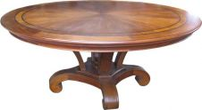Round Mahogany Dining Table with Inlay T001