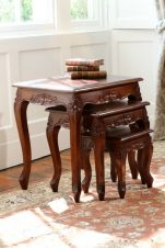 Mahogany Queen Anne Nest of 3 Tables T038