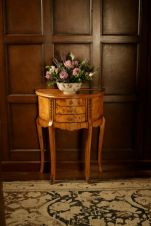 Hampton Walnut Demilune Table TW004