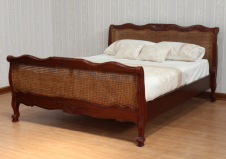 CLEARANCE French Louis Cane Rattan Bed B007