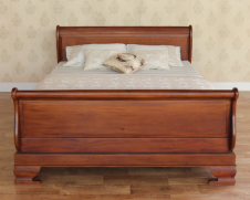 Mahogany Sleigh Bed Regular Footboard