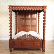 Janna Four Poster Canopy Bed B019