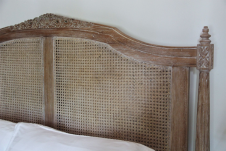 Belle French Weathered Rattan Bed