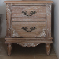 CLEARANCE- Belle French Weathered Bedside Table