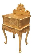 French Rococo Bedside with Pediment BS024G