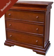 French Louis Philippe Sleigh Style Chest of Drawers (3-4 drawers) CHT074