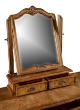 Hampton French Chic Walnut Dressing Table with Mirror