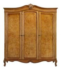 Hampton French Chic Triple Walnut Wardrobe