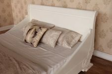 CLEARANCE French Carved Sleigh Bed B015P
